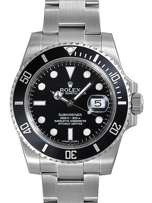 Rolex Submariner Negro Dial Cerámica Bisel Acero Mens Reloj 116610LN