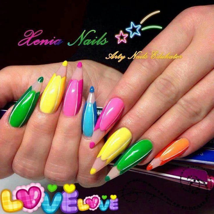 Pencil nail art