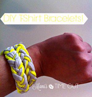 Pinterest DIY   T-Shirt Bracelets -