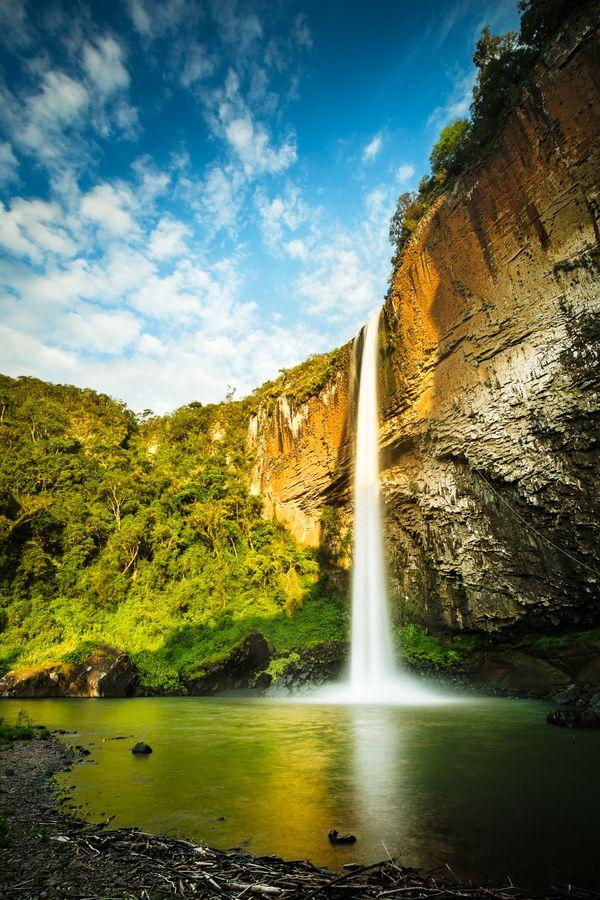 Cascata do Chuvisquiro, Riozinho, Rio Grande do Sul, Brazil