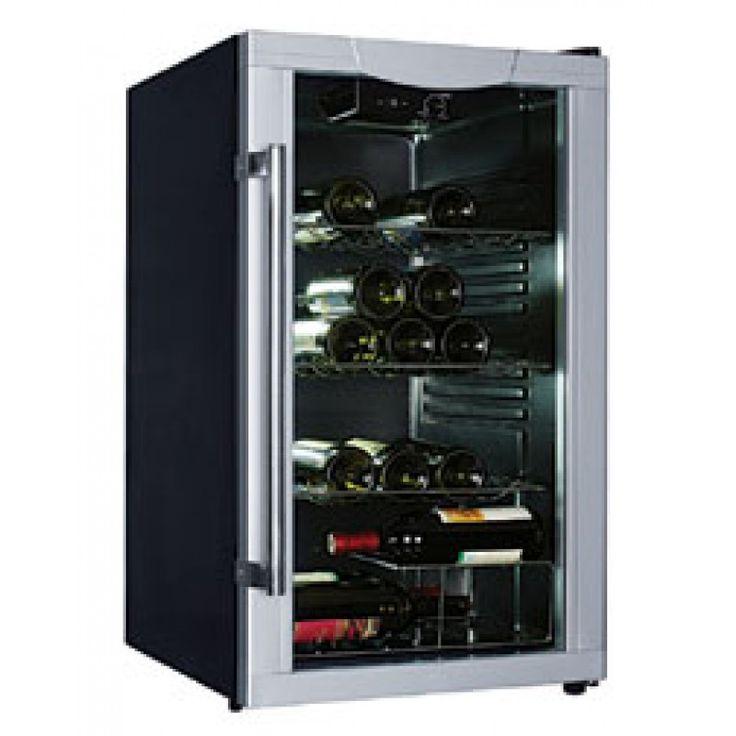 50cm Wine Cooler by Trieste (ED-WC40B)   Features:  Reversible Transparent Door Double Tempered Glass Door Automatic Defrost 40 Bottle Capacity