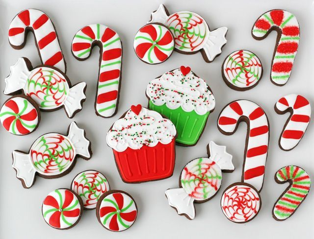 PEPPERMINT CANDY DECORATED COOKIES – with a little patience and the the know-how, we can all become talented in the decorating department – practice will really make perfect!