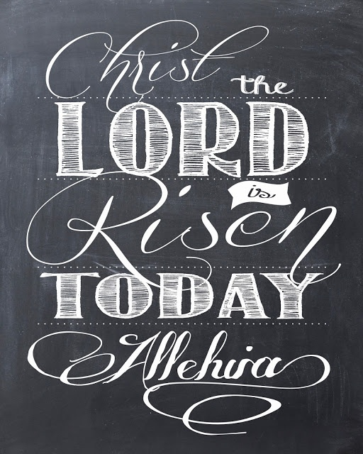 FREE Easter Printable - Christ the Lord is Risen Today - Alleluia!!