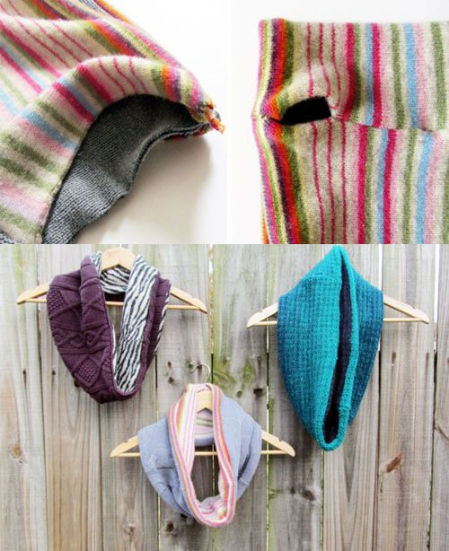 diy scarves different cloth scarps easy ideas old sweaters