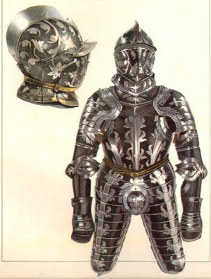 This insbruck armour in the Odescalchi collection was made in 1550-1560. It represents another sub style yet. A banded armour with flamboyant enhancements to the band pattern.