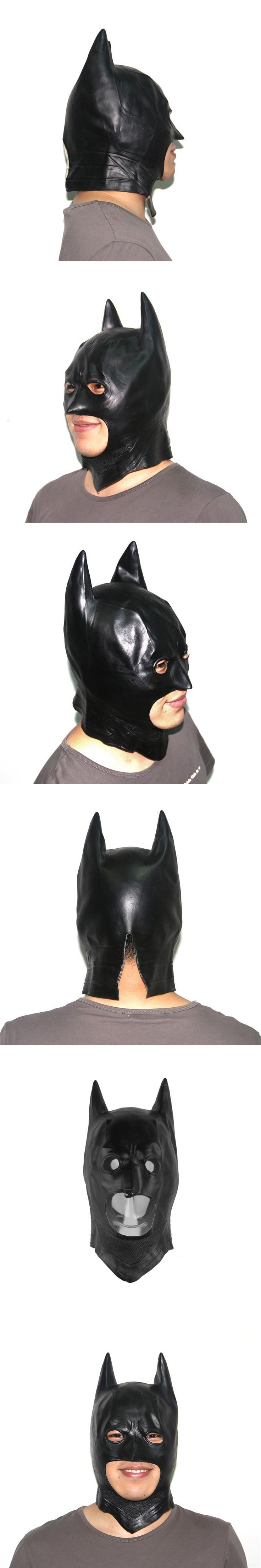 High Quality Miss the classic Batman Masks Halloween Men's Rubber Adult Full Costume Party Mask Cosplay Movie Latex Toy Props