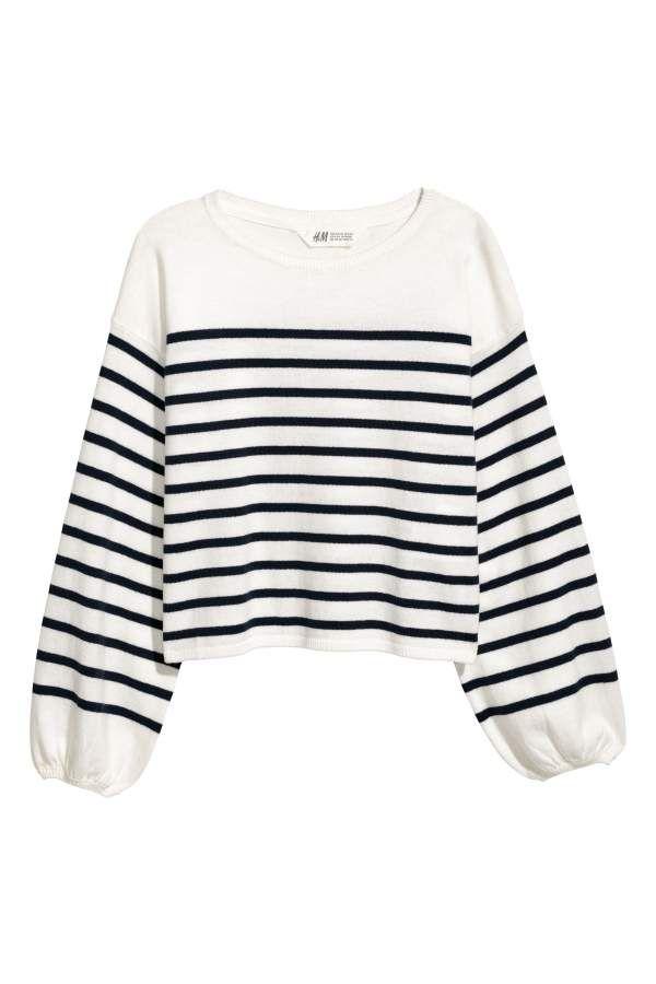 64c6b6fed1e5 White dark blue striped. Sweater in soft