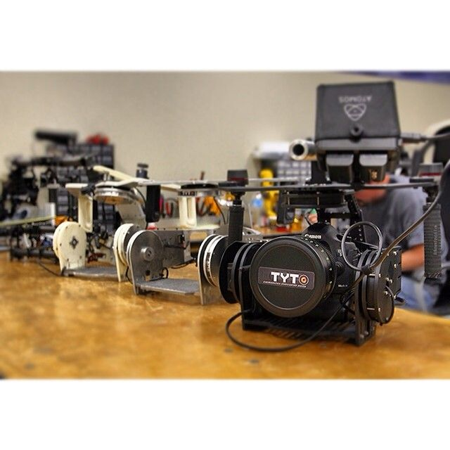 The #evolution of #TYTO. #PMG #multirotors three axis #brushless gimbal. Pictured with the #Canon #5Dmkiii and #24mm #cine #prime #lens
