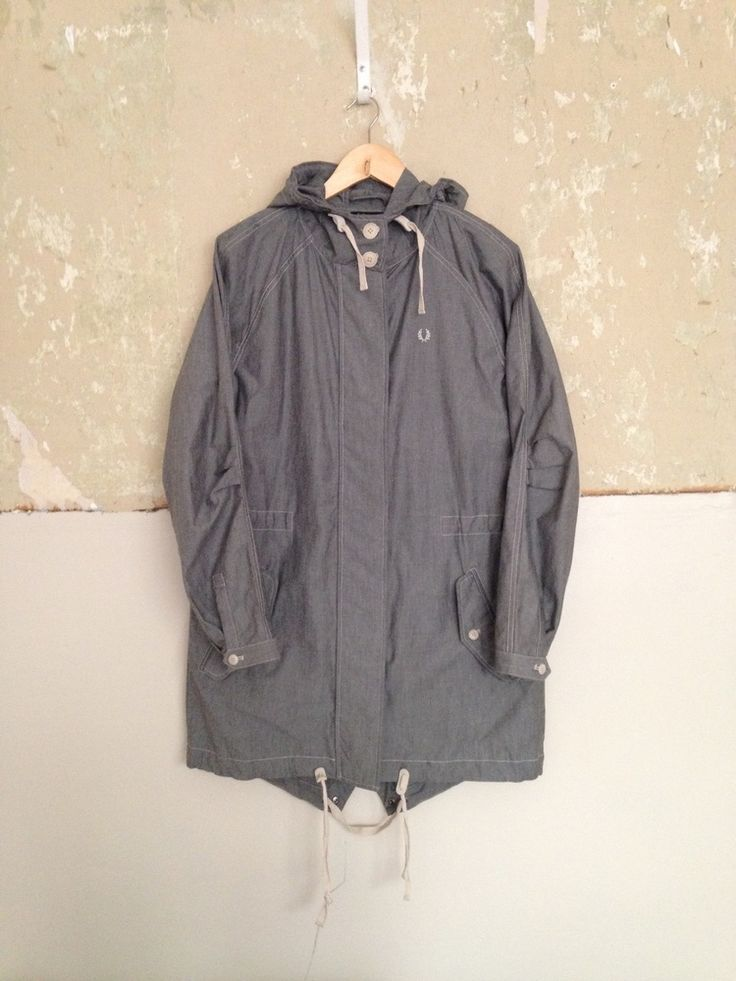 """LADIES FRED PERRY """"AUTHENTIC RANGE"""" LINED WINTER PARKA/COAT/JACKET UK12 MOD"""