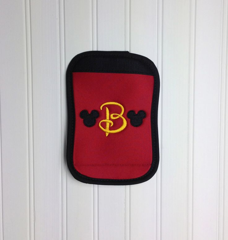 Disney Luggage or Stroller Tag Handle Wrap - Mickey Mouse Applique Embroidered DCL Disney Cruise Line Personalized by GirlieQs on Etsy https://www.etsy.com/listing/202703810/disney-luggage-or-stroller-tag-handle