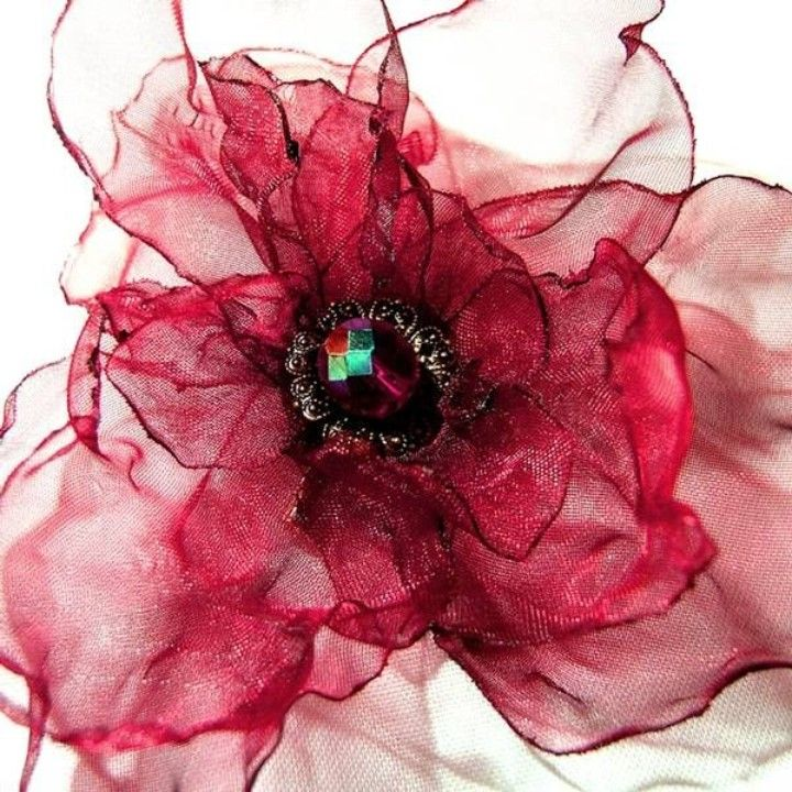How to Make an Organza Rose Corsage