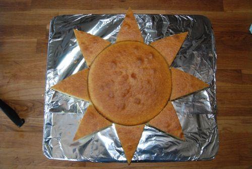 assemble the sun cake