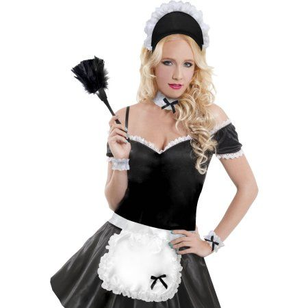 French Maid Accessory Kit Halloween Costume Accessory, Women's