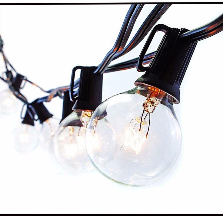 25Ft Глобус Струнные Светильники с 25 G40 Луковицы Винтаж Патио Сад Свет строка для Деко, наружное освещение строка для Рождественской Вечеринки купить на AliExpress