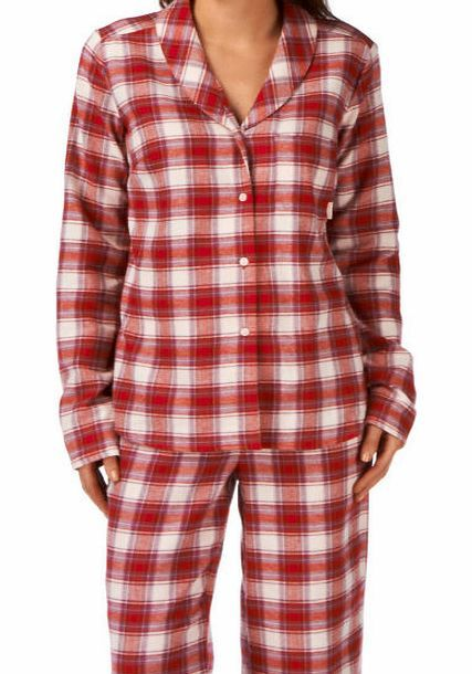 Calvin Klein Womens Calvin Klein Flannel Long Sleeve Pyjama Womens pyjama top by Calvin Klein