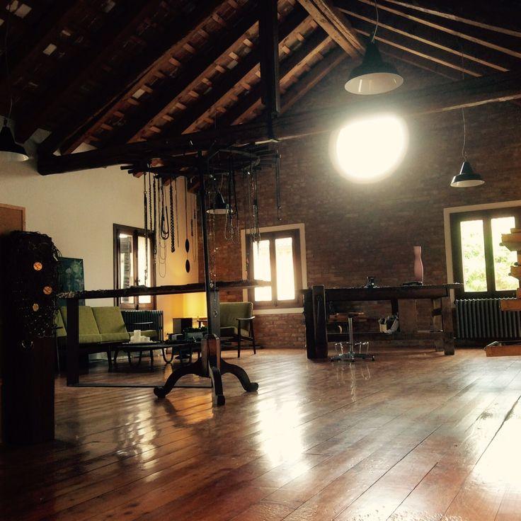 My workshop at Filanda Motta, always a nice place to stay. #italiandesign #architecture #design #interiors #jewels #jewlery