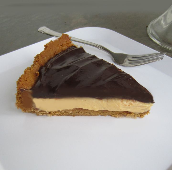 Chocolate Peanut Butter Tart by ALittleClaireification.com #dessert # ...
