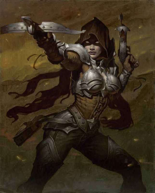 Video Game Art Diablo 3 Demon Hunter by Gerald Brom Comic Art