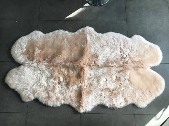 baby pink pale pink blush pink large sheepskin rug bed cover chair cover sofa throw hygge