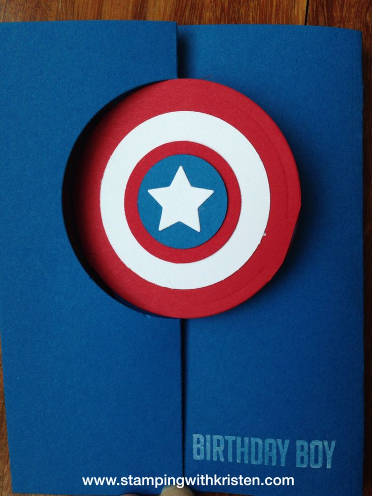 hand crafted card ... round flip card ... red, white and blue ... luv the layered circles and the bright colors ... Stampin' Up!