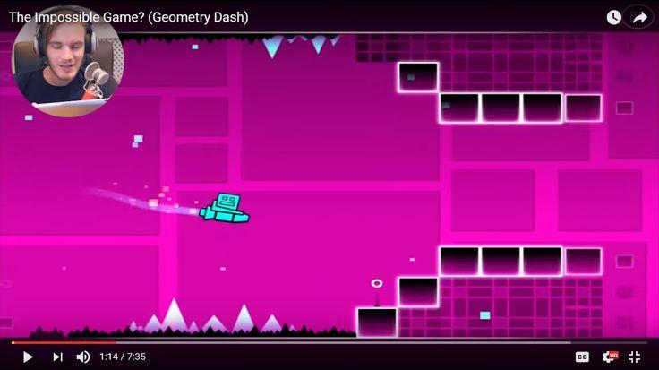 Along PewDiePie play Geometry Dash game #game_frozen_islands , #game_gas_blast , #game_fisher_cat , #geometry_dash  : http://geometrydash20.com/