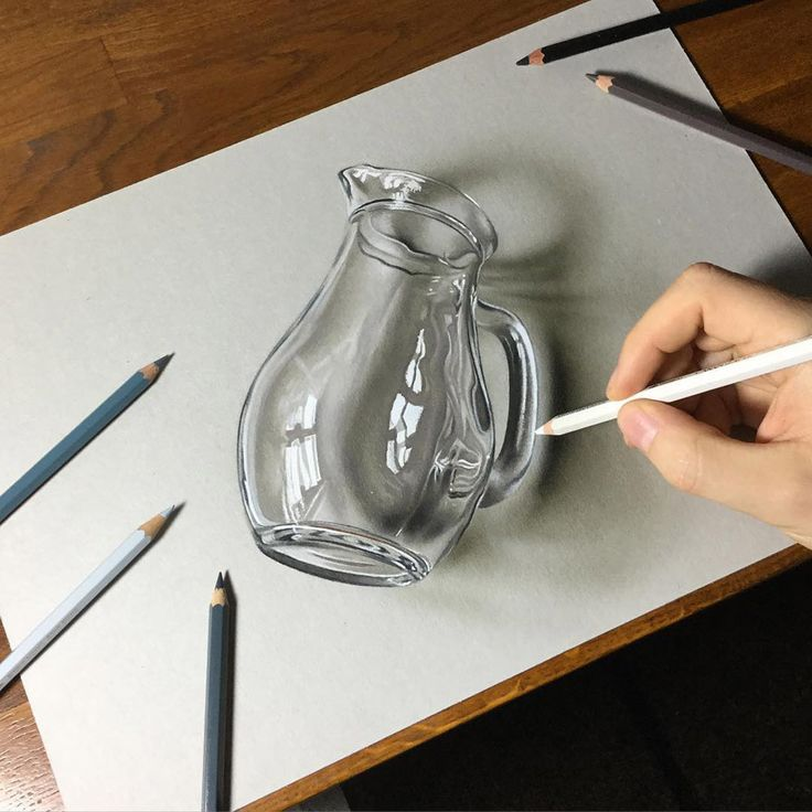 Hyper-realistic Illustrations by Marcello Barenghi #illustration #art Glass Pitcher
