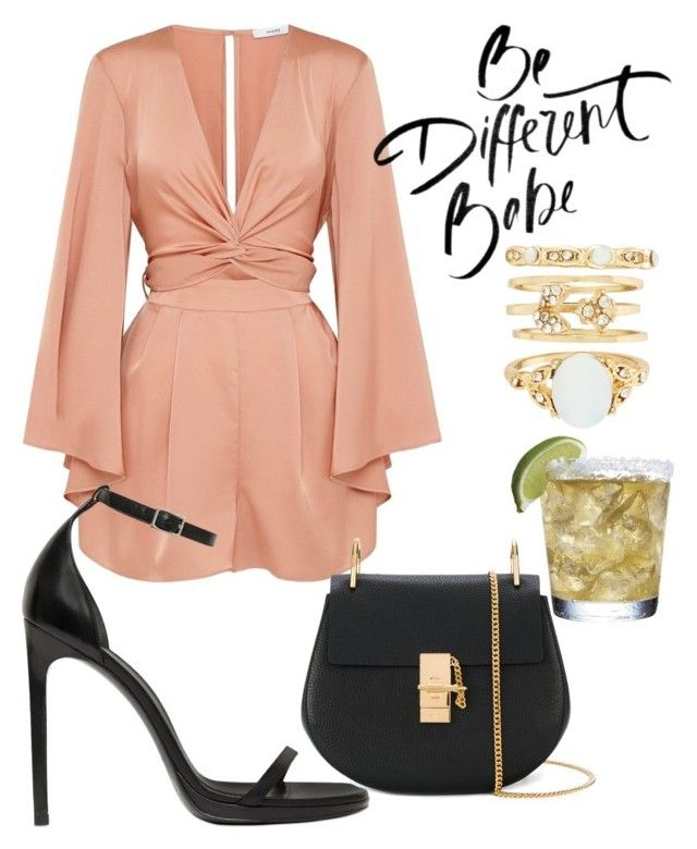"""""""Untitled #312"""" by kenziecruz96 on Polyvore featuring Yves Saint Laurent, Chloé and New Look"""