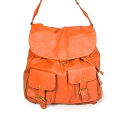 Street Level Drawstring Orange:: Bag:: Backpack:: Drawstring:: Flap shoulder