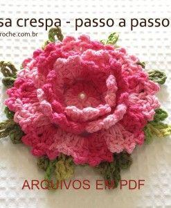 Flor rosa crespa