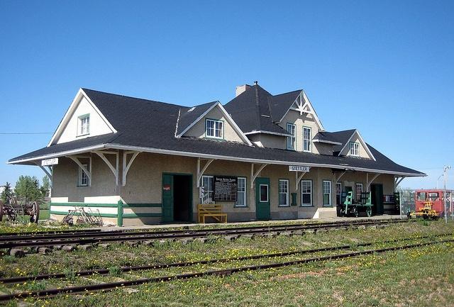 CNR Train Station, Stettler Museum Pioneer Village, Stettler, Alberta, Canada