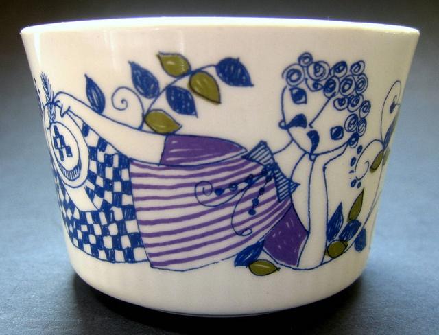 1960s Figgjo Flint Norway, 'Lotte' Sugar Bowl designed by Turi Gramstadt Oliver