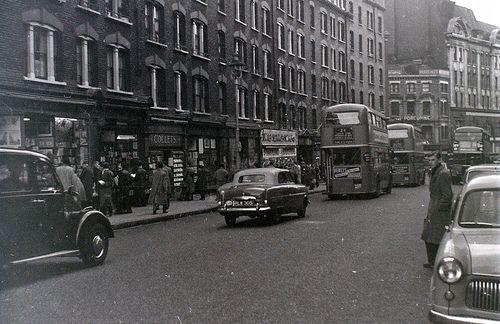 Charing Cross Road, London, 5 November 1955