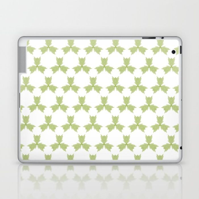 Skins are thin, easy-to-remove, vinyl decals for customizing your laptop . Skins are made from a patented material that eliminates air bubbles and wrinkles for easy application. three, leaves, green, pattern, group, white, gentle, digital, society6, gifts, shopping, buy, sell, unique #artwork #abstract #green #greenleaves #society6