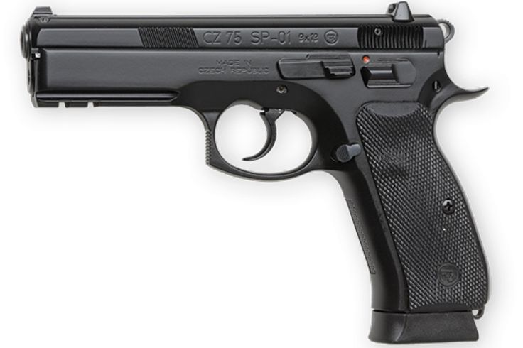 The CZ 75 SP-01 is the first full size handgun from CZ to feature the improved manufacturing technology and ergonomics of the NATO-approved CZ 75 Compact P-01 model.