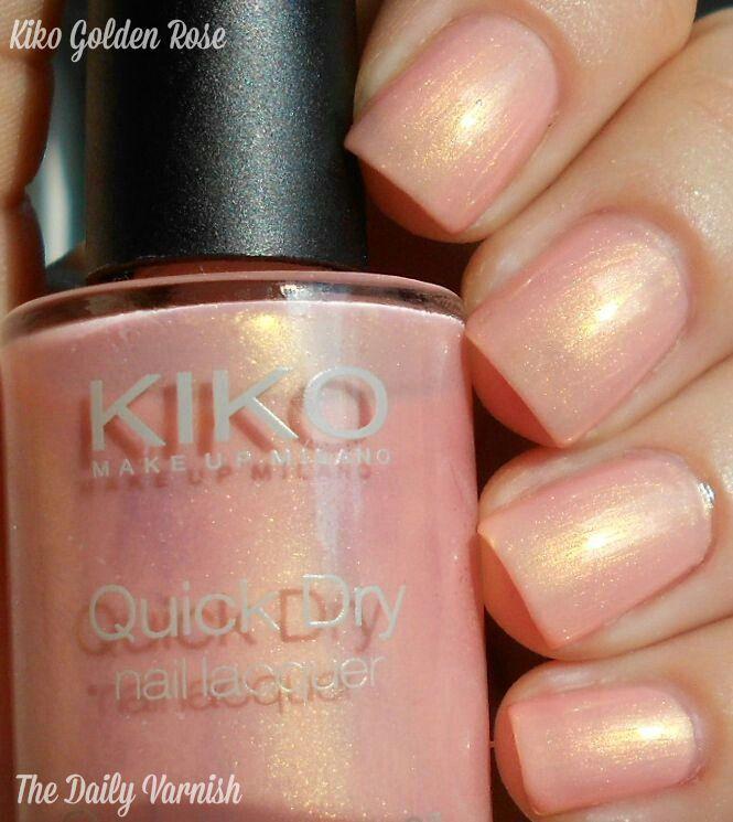 "Kiko Quick Dry Nail Polish in 802 ""Golden Rose""."