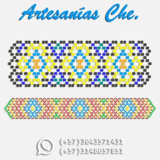 Manilla tejida a mano alzada – Artesanías Che