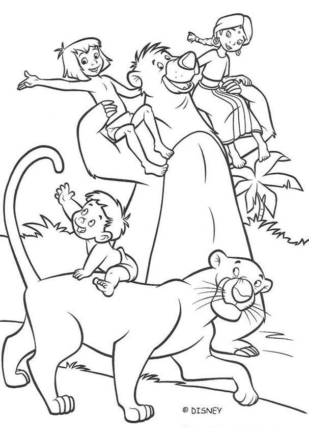 THE JUNGLE BOOK 2 Disney Movie Coloring Books