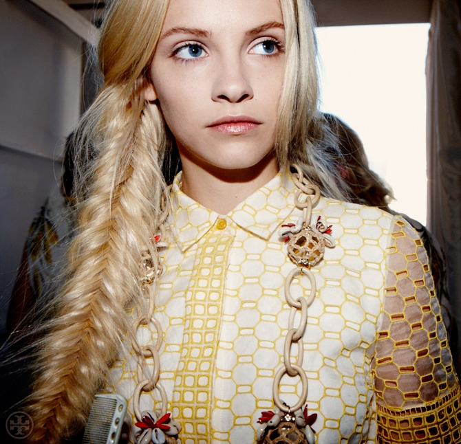 Backstage at Tory Burch Spring 2013.: Braids Hairstyles, Fish Tail, Makeup, Tory Burch, Fishtail Braids, Hair Style, Beauty, Fishtail Braid Hairstyles, Hair Inspiration