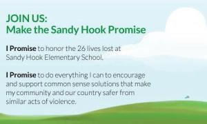 I strongly encourage you to take the Sandy Hook Promise. I have done it a long time ago, even before Sandy Hook happened and I will continue to believe that I can change the world one person at a time, one day at a time.