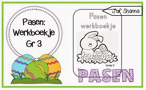 Juf Shanna: Thema Pasen: werkboekje groep 3!