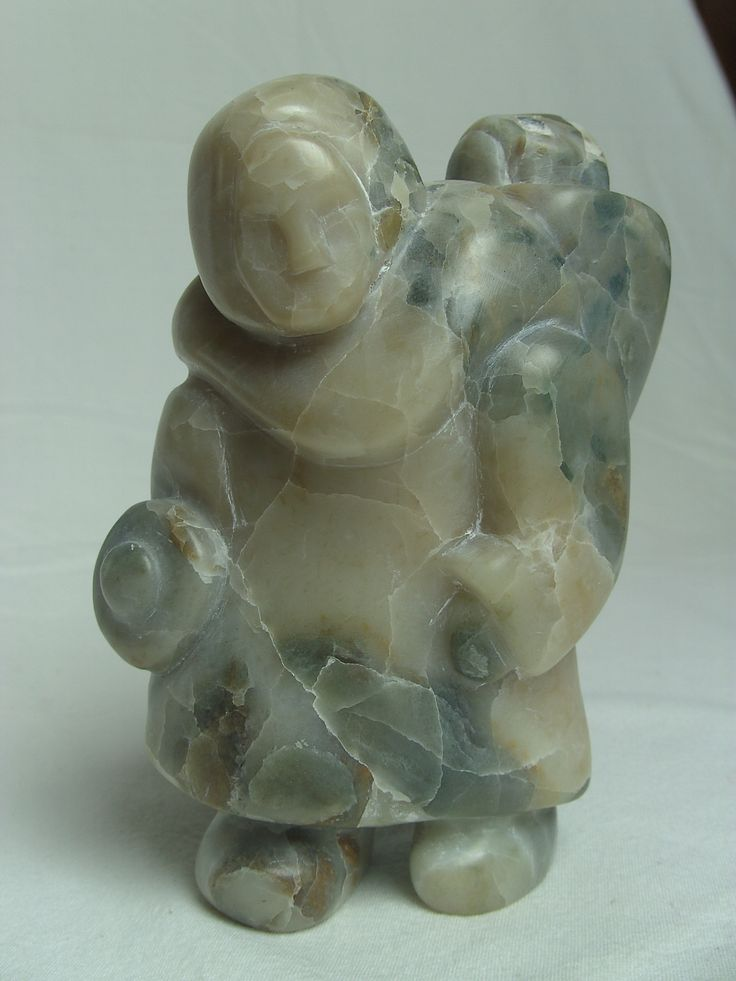 Inuit Soapstone Carving Inspiration: Woman with Child ...