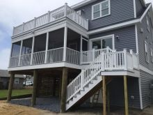 Miken Builders has incorporated Atlantic Aluminum's vinyl rail and screen porch system for their most recent project in Bethany Beach! Atlantic Aluminum's screen porches are guaranteed against wind blowout up to three years and even warranted in coastal applications. Safety is always a priority here at AAP! Our innovative screen system has the capacity to incorporate a railing system to ensure your elevated porch remains safe and retains fall protection. AAP's vinyl railing is not only…