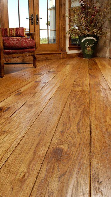 Carlisle Colorado Hand Scraped Hickory Plank Floors In