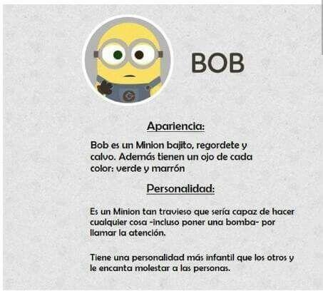 Bob Es Muy Tierno Minions Minions Despicable Me