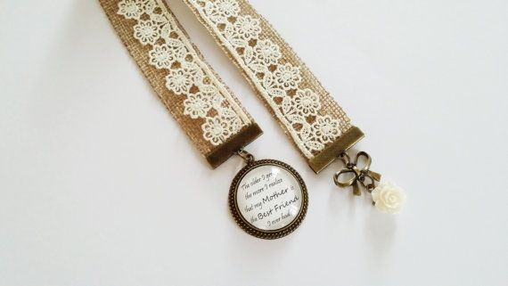 Personalized bookmark ribbon bookmark mother by Zukhrufcreations, £9.94