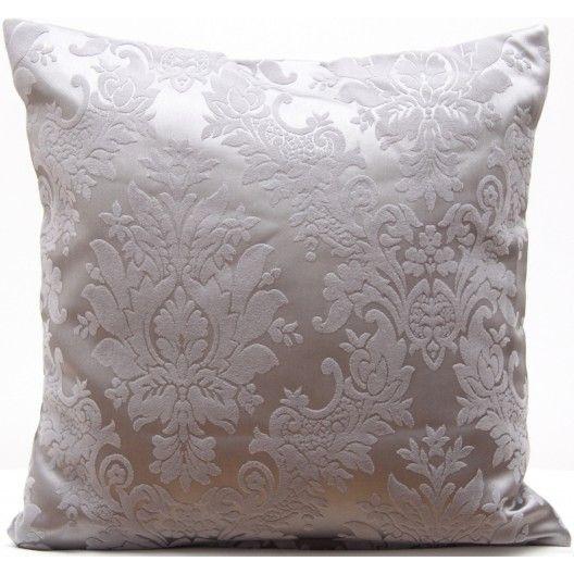 Sivá dekoračná obliečka na vankúš s abstraktnými vzormi