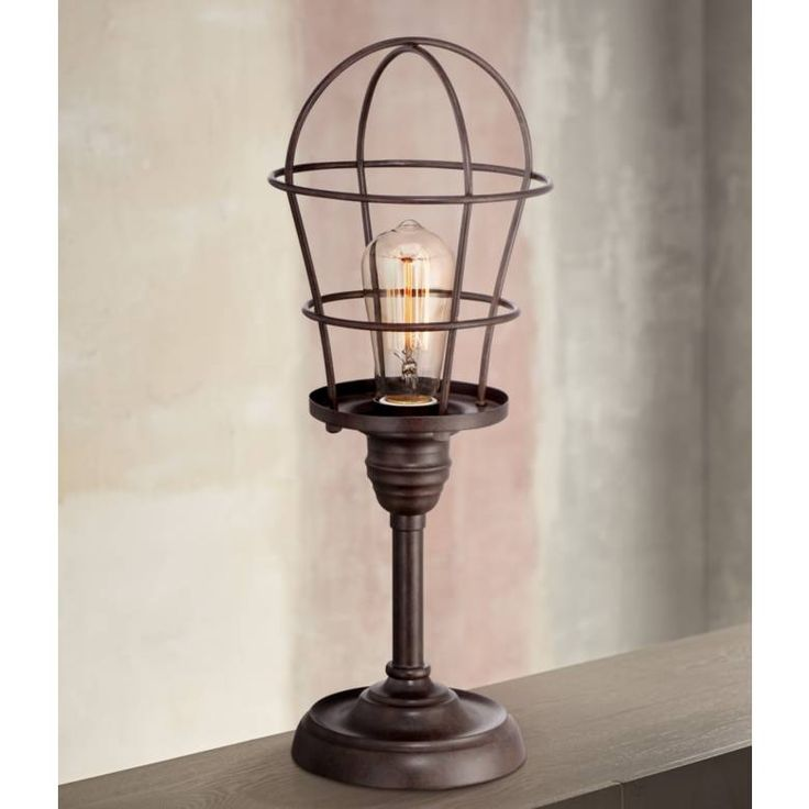 Franklin Iron Works Industrial Wire Cage 17 1 4 Accent Lamp 4y309 Lamps Plus Franklin Iron Works Accent Lamp Metal Lamp