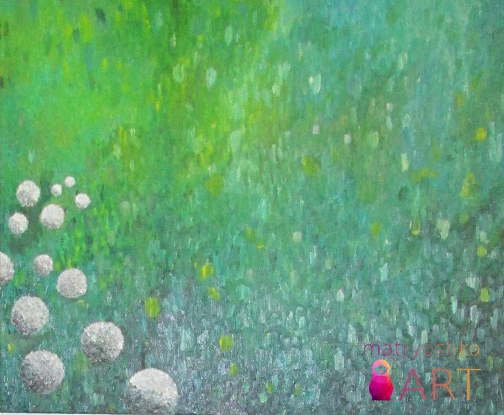 mój drugi w życiu rękoczyn: Łąka, 80 x 100, obraz olejny z akrylami, Piaseczno 2013
