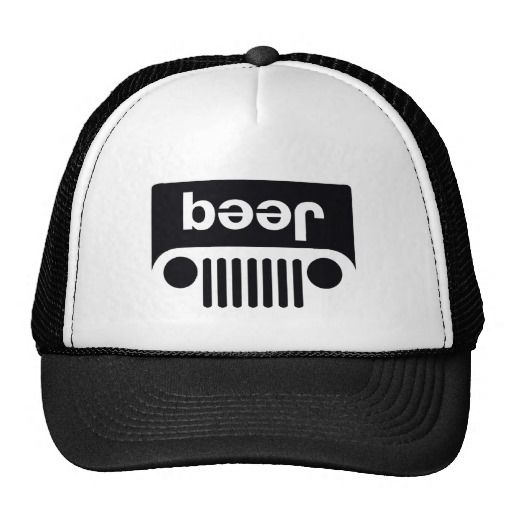 Beer Jeep logo Trucker Hats