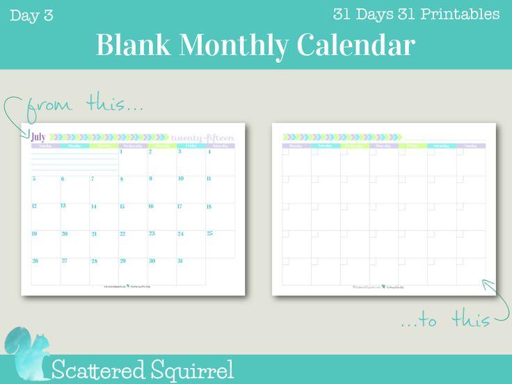 25+ unique Blank monthly calendar ideas on Pinterest Free blank - preschool calendar template
